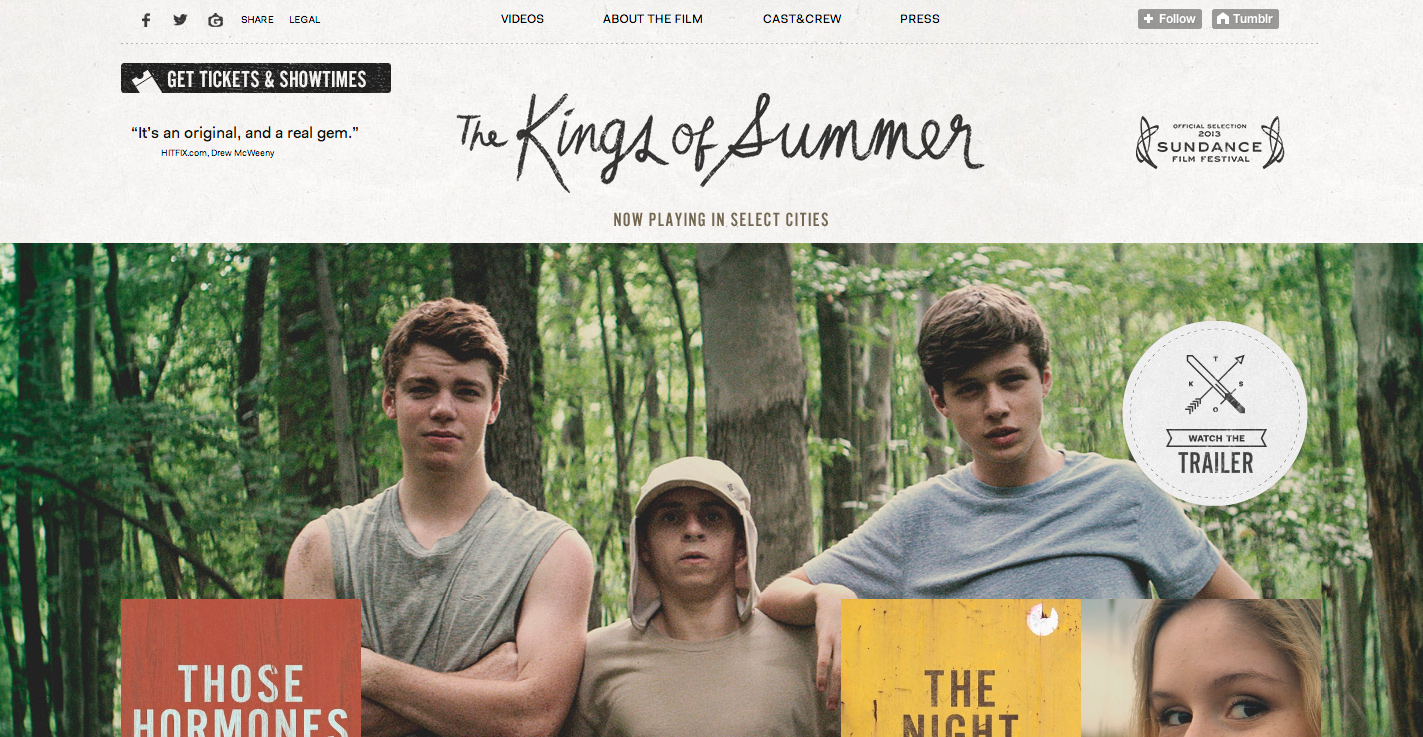 India Summer Tumblr Pretty the kings of summer tumblr site - awwwards sotd