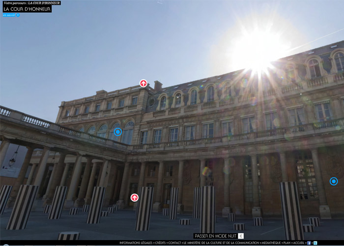 Virtual visit of the French Culture Ministry