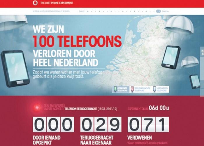 Vodafone Lost Phones Experiment