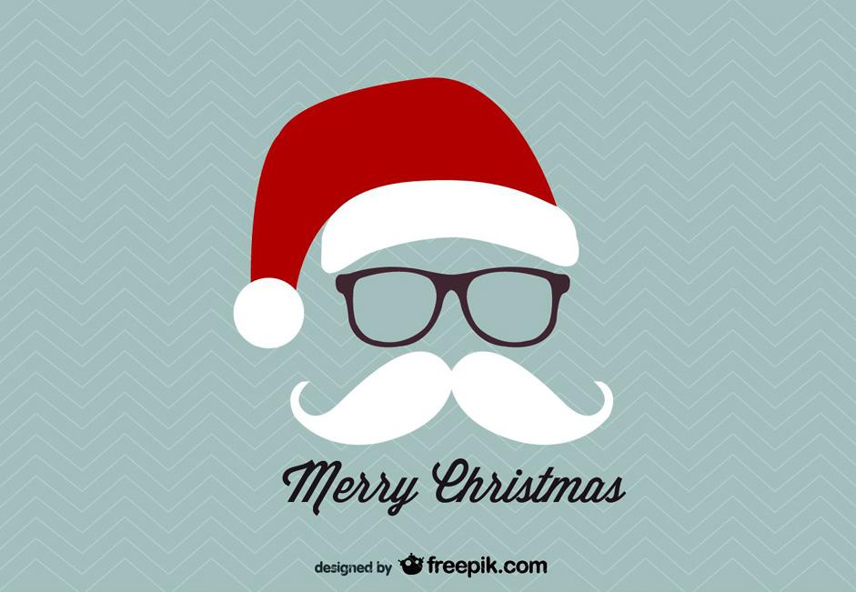 Free 20 Customizable Flat Style Christmas Cards from Freepik