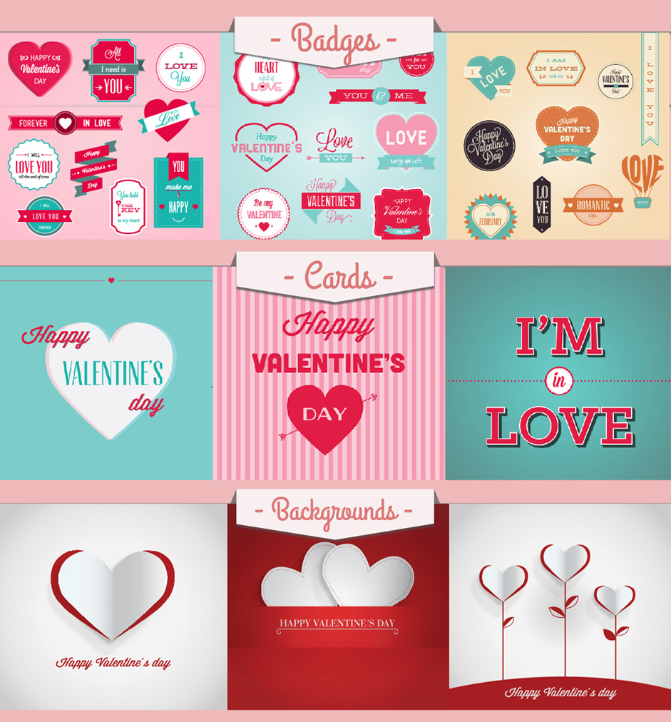 Valentineu0027s Day Vectorial Resources
