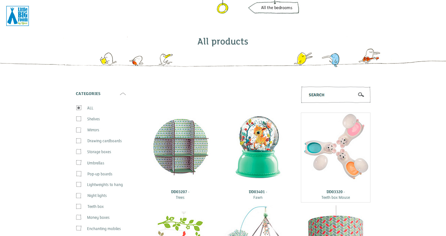 Little big room by djeco awwwards sotd for The make room website