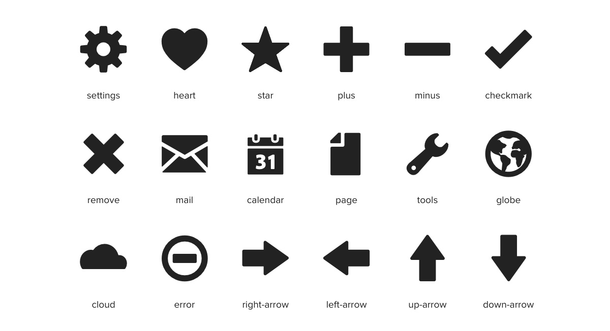 Thousands Of Free Vector Icons And Icon Webfonts For Interfaces Responsive Web Design
