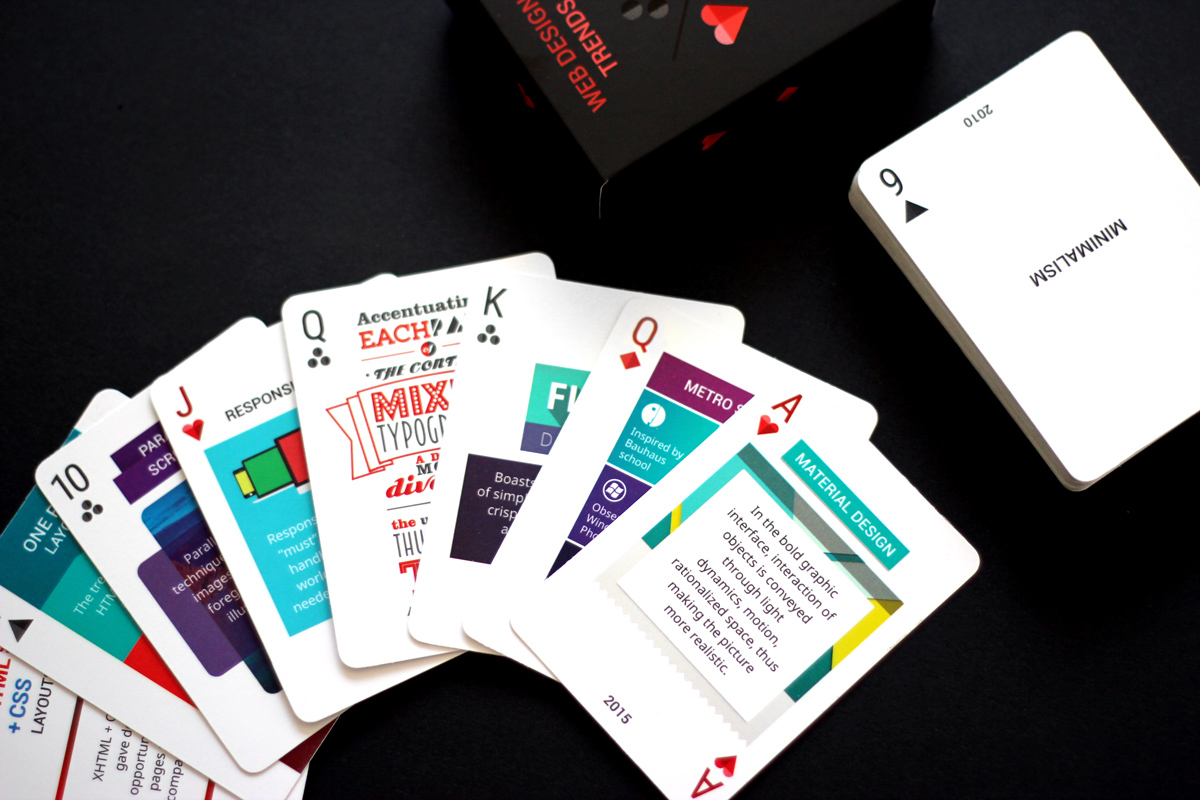 Learn web design trends playing cards find out how to get your deck for How to learn web designing at home free