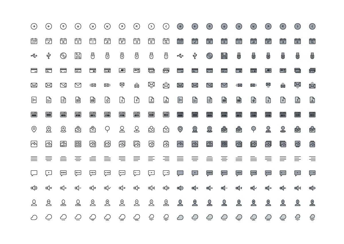 Free Minimalist Icons for Awwwards Users