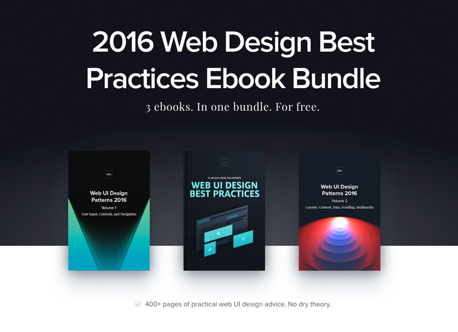 3 Free e-Books: 2016 Web Design Best Practices Bundle