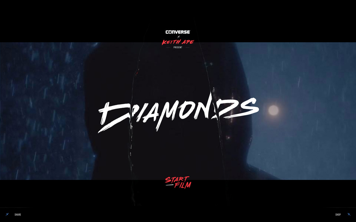 Converse Diamonds by Resn Wins August's Site of the Month