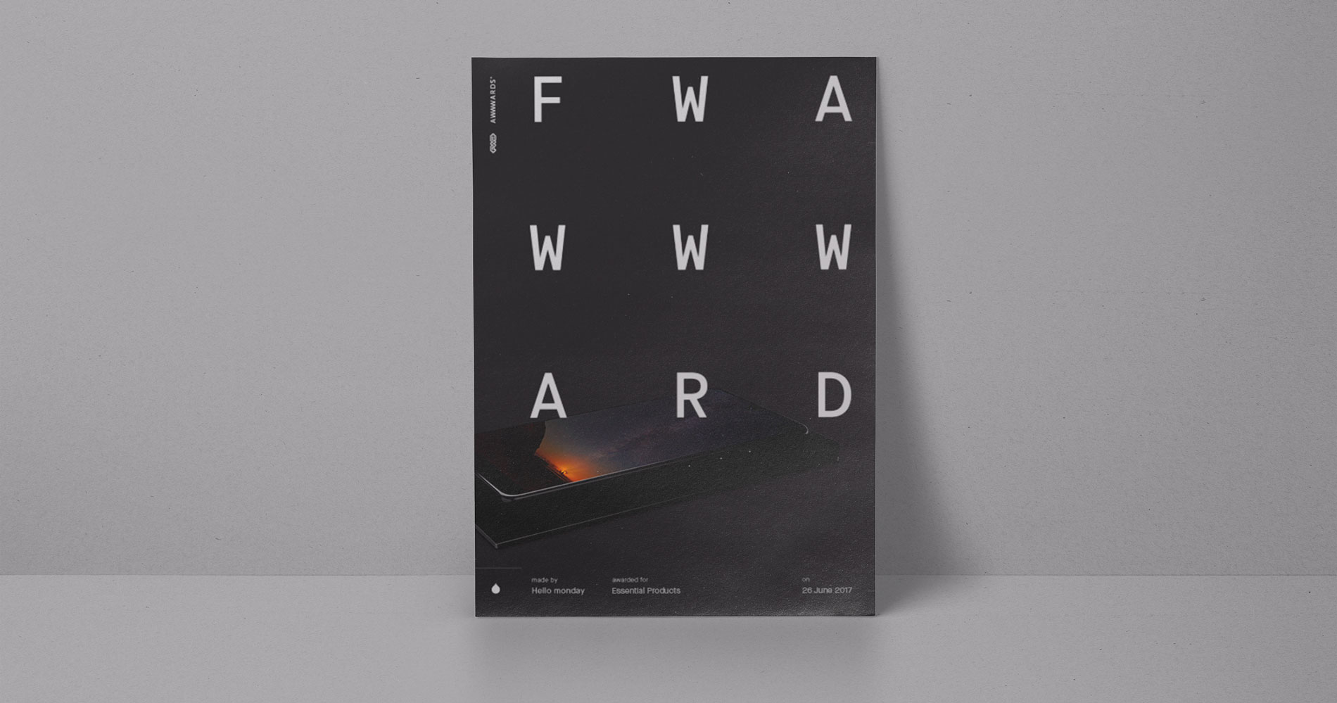 The Unveiling of the FWAWWWARD Logo and Certificate.