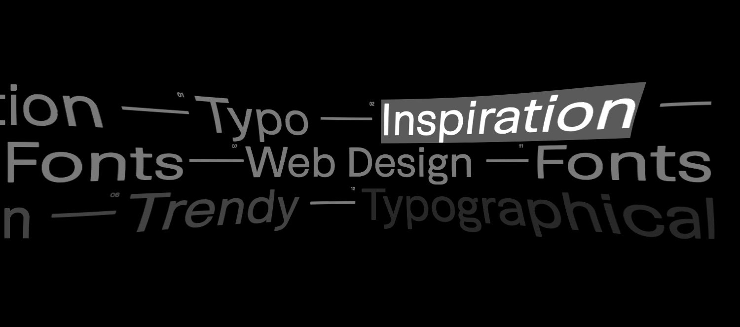 Typographical inspiration in trendy web design