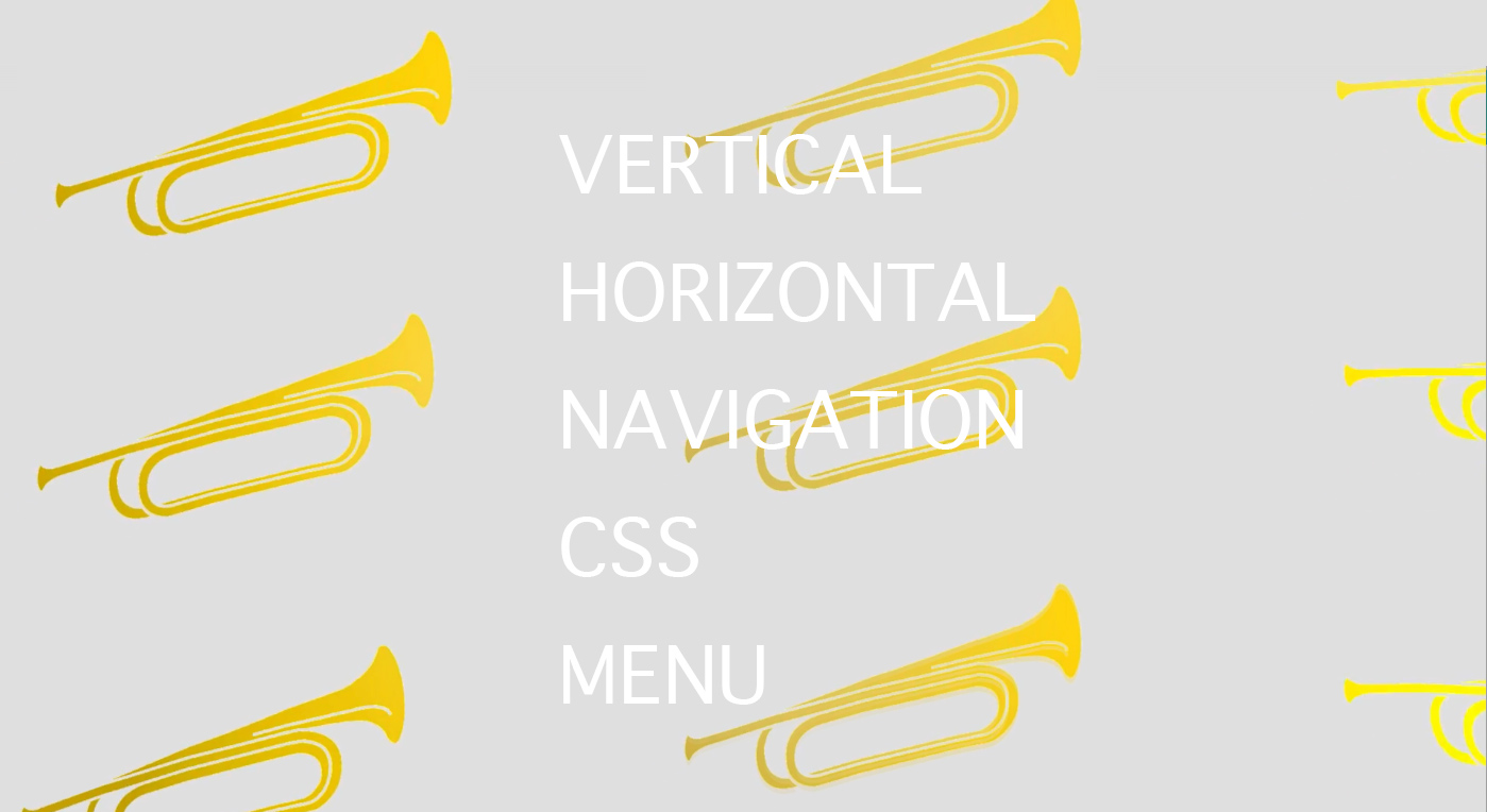 Original vertical and horizontal Navigation CSS Menus