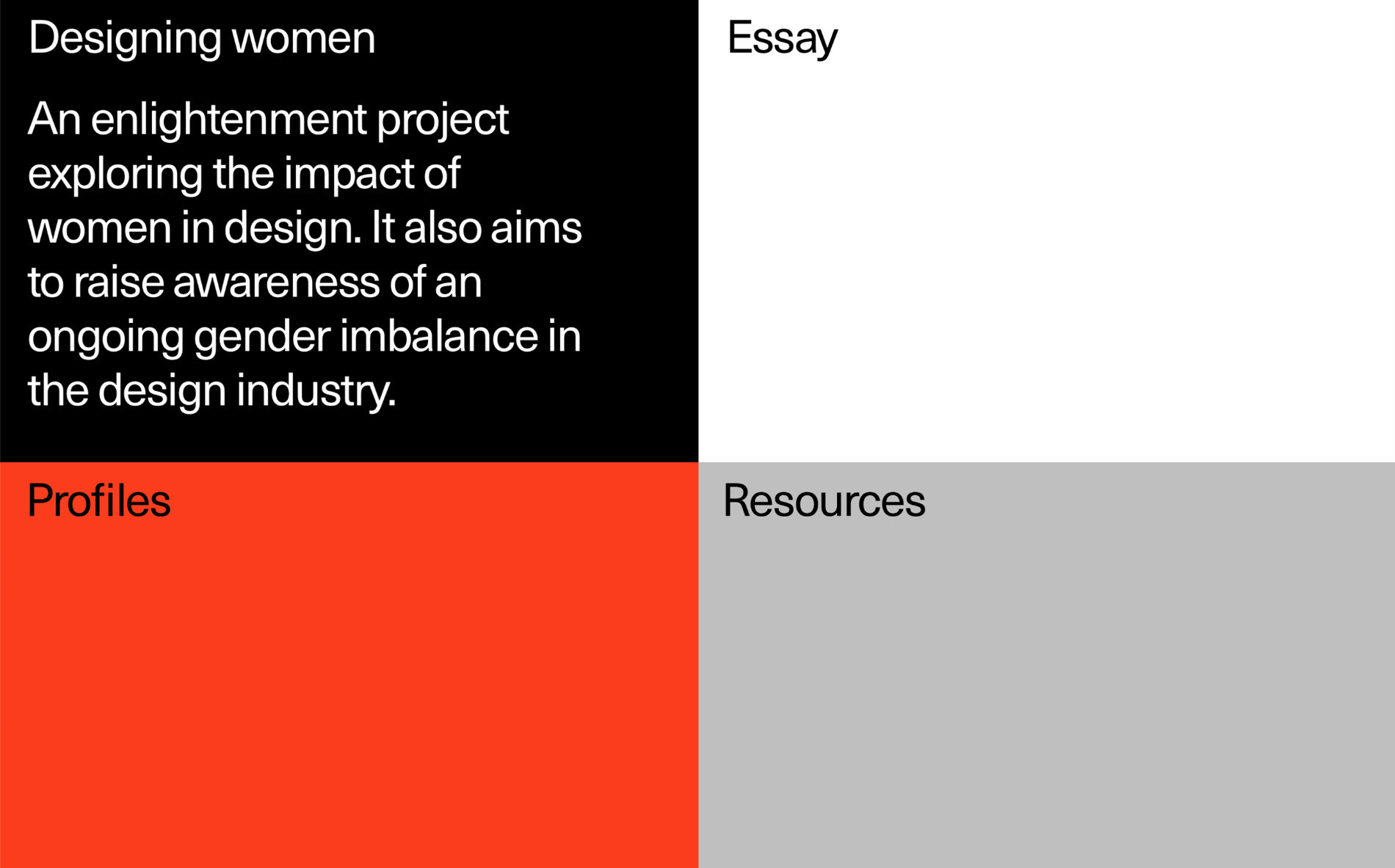 Statement on the web made without coding: Go behind the scenes with Readymag on their new feminist project