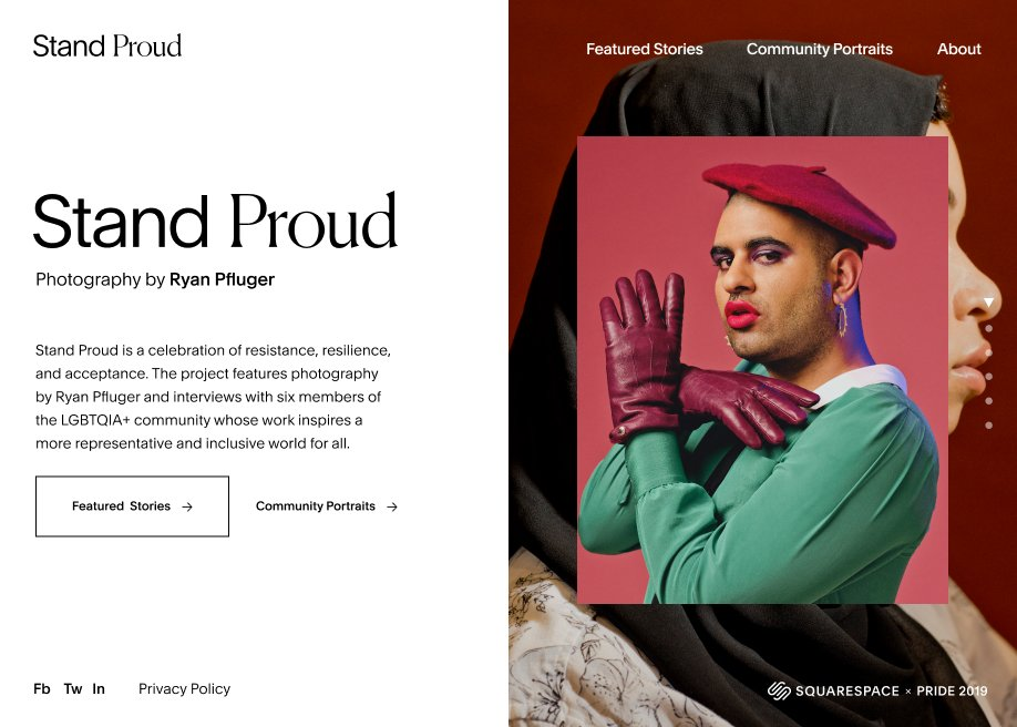 Squarespace: Stand Proud