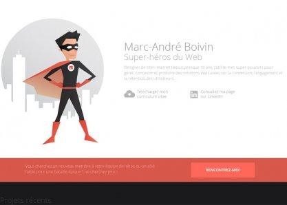 Marc-Andre Boivin Super-hero du Web