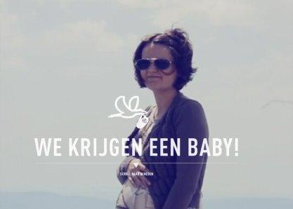 We krijgen een baby!