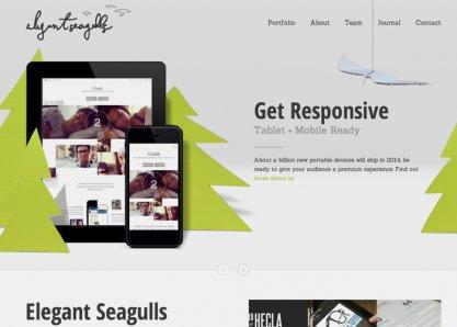Elegant Seagulls