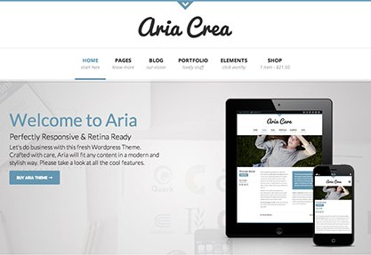 Aria - Pure Business WP Theme
