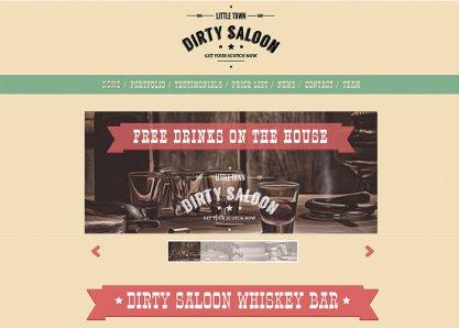 Dirty Saloon - A Cowboy Theme