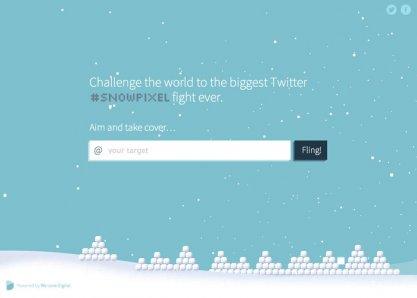 The Twitter #snowpixel challenge