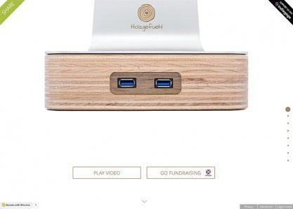 holzgefuehl - Raise your iMac with wood and USB 3.0