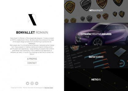 Bonvallet Romain - Portfolio