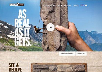 Eldorado Stone's See and Believe Microsite