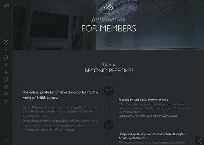 Beyond Bespoke - Members Information Area