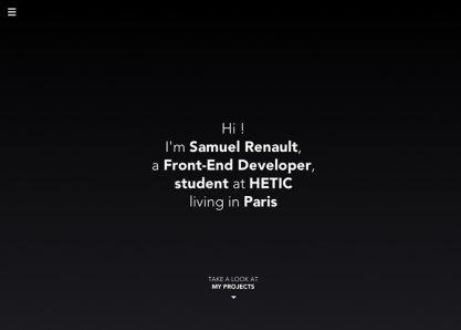 Samuel Renault, Front-End developer