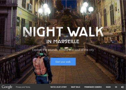 Google Nightwalk in Marseille