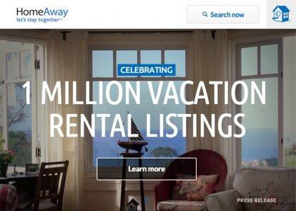 HomeAway 1 Million Vacation  Rental Listings