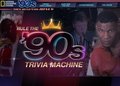 Rule the '90s Trivia Machine