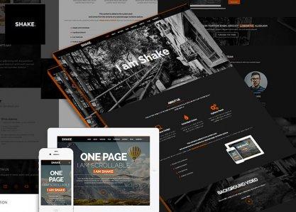 Shake One Page Wordpress Theme