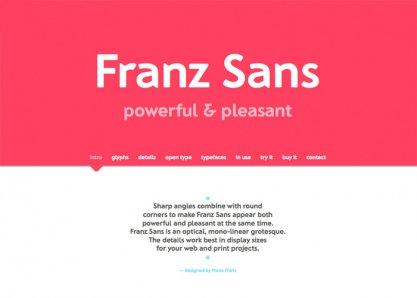 Franz Sans — powerful & pleasant