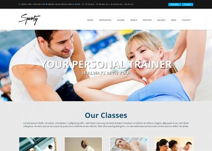 Sporty - WordPress Gym Theme