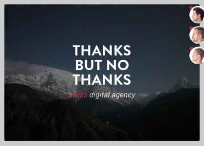 Thanks but no Thanks - Swiss Digital Agency (TBNT)
