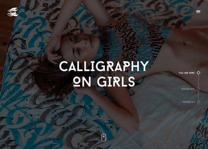 Calligraphy on girls