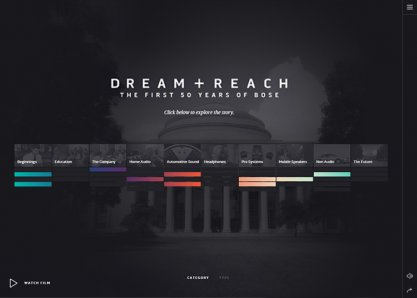 Dream + Reach: The first 50 Years of Bose
