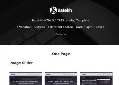 Batekh - Multi-Purpose Landing Page