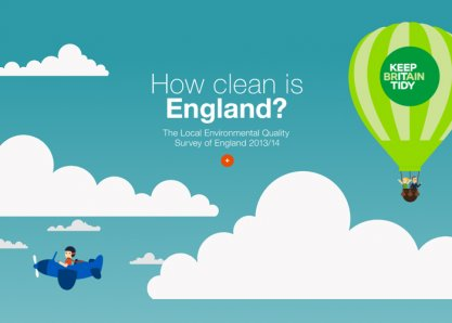 How clean is England?