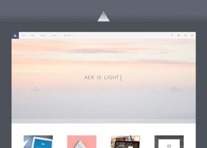 AER - Clean & Light WordPress Theme