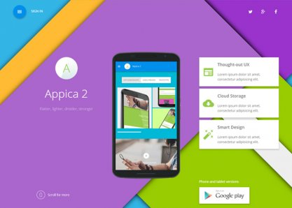Appica 2 - Premium App Showcase Theme
