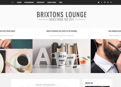 Brixton - Minimal & Personal WordPress Blog Theme