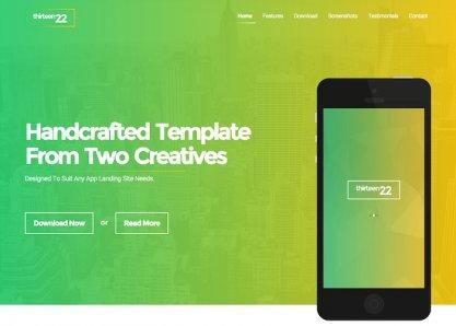 Thirteen22 - App Landing Page