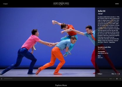 Jacob's Pillow Dance Interactive