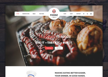 Foodz - Restaurant Joomla Template