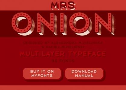Mrs Onion Typeface