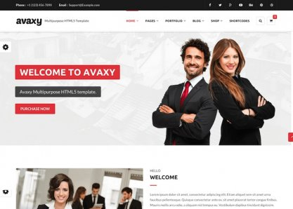Avaxy - HTML5 Multipurpose Template