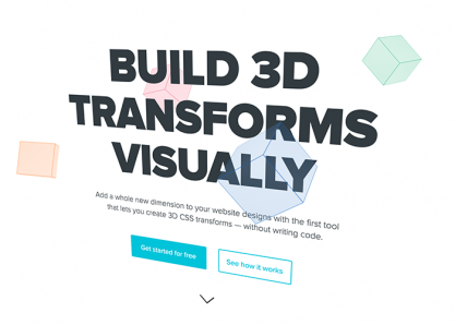 Build 3D Transforms Without Code by Webflow