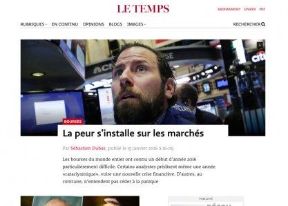 Newspaper - Le Temps