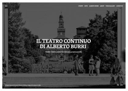 ALBERTO BURRI'S TEATRO CONTINUO
