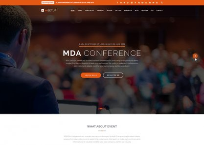 Meetup - Conference Event WP Theme